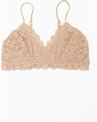 Nasty Gal Camilla Lace Bralette - Nude beige - Lyst