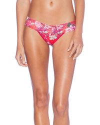 Hanky Panky Blooming Plaid Low Rise Thong - Lyst
