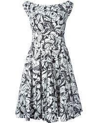 Blumarine Floral-Print Pleated Skirt Dress - Lyst