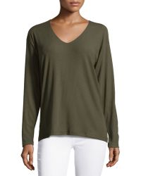 Theory Tiverna Ribbed Long-Sleeve Tee - Lyst
