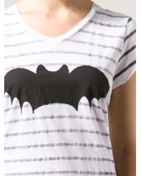 Zoe Karssen Bat Stripes Tshirt - Lyst
