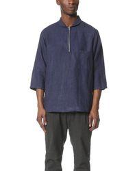 Shades of Grey by Micah Cohen - 3/4 Sleeve Shawl Collar Shirt - Lyst