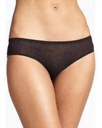 Skin Organic Pima Cotton Boyshort black - Lyst