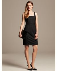 Banana Republic Pin Stripe Sheath  - Lyst