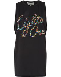 3.1 Phillip Lim Black Beaded Lights Out Tank Top - Lyst
