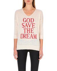 Wildfox God Save The Dream Jumper - Lyst