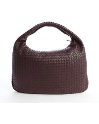 Bottega Veneta Aubergine Intrecciato Leather Veneta Large Hobo - Lyst