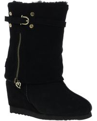 Love From Australia - Nikita Snake Wedge Boots - Lyst