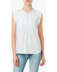 7 For All Mankind Sleeveless Popover Henley - Lyst
