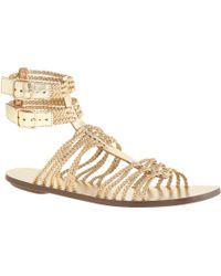 J.Crew Braided Gladiator Sandals gold - Lyst