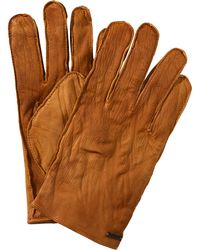 BOSS Orange - Buffalo Leather Gloves 'gans' - Lyst