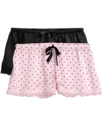 H&M 2-Pack Pyjama Shorts pink - Lyst
