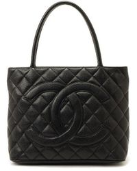 Chanel Pre-owned Medallion Tote Bag - Lyst