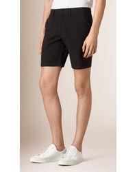 Burberry | Cotton Poplin Chino Shorts | Lyst