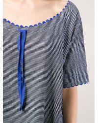 Dosa - Striped Scalloped Trim Dress - Lyst