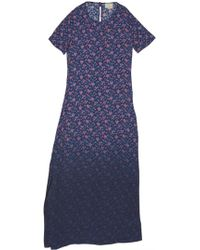 Band of Outsiders Mini Rose Gown blue - Lyst