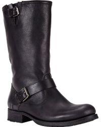 NDC Buckle-Strap Biker Boots black - Lyst