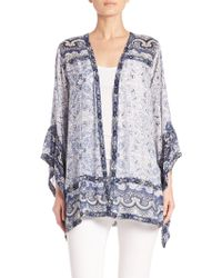 Calypso St. Barth - Amantha Printed Open-front Jacket - Lyst