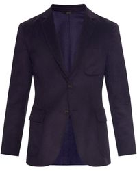 Brioni Double-Faced Wool And Cashmere-Blend Blazer blue - Lyst