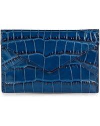 Graphic Image - Croc-Embossed Leather Mini Envelope - Lyst