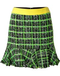 Moschino Cheap & Chic Multicolor Checked Skirt - Lyst