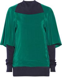Vionnet Colorblock Silk and Wool Sweater - Lyst