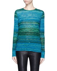 Proenza Schouler | Stripe Cotton Tissue Jersey Long Sleeve Top | Lyst