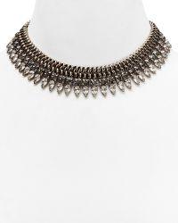 Dannijo Crystal  Chain Spike Necklace 14 - Lyst
