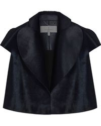 Mulberry Cropped Heart Lapel Jacket - Lyst