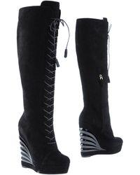 Saint Laurent High-Heeled Boots - Lyst