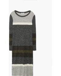 Mango | Ribbed Long Dress | Lyst