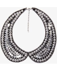 Forever 21 Sequined Peter Pan Collar - Lyst