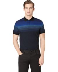 Calvin Klein Placed Stripe Polo - Lyst