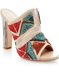 Maiyet - Jill Embroidered Mule In Nude - Lyst