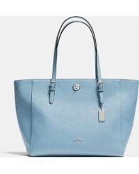 COACH | Turnlock Tote In Crossgrain Leather | Lyst