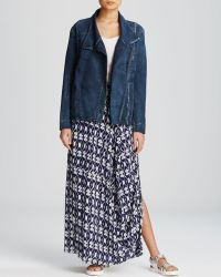 DKNY Pure Denim Moto Jacket - Lyst