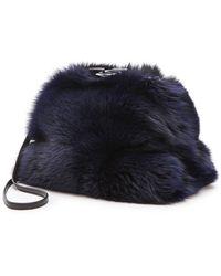 Diane Von Furstenberg Sutra Foxy Fur Muff Clutch  Ink - Lyst