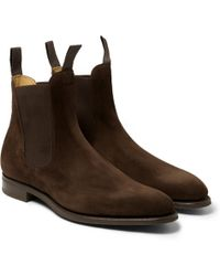 Edward Green Newmarket Suede Chelsea Boots - Lyst