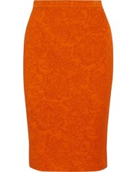 Givenchy Floral-Jacquard Pencil Skirt - Lyst