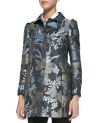 RED Valentino Wooded Forest Jacquard Topper Coat - Lyst