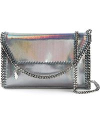 Stella McCartney 'Falabella' Metallic Clutch - Lyst