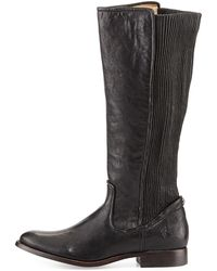 Frye Melissa Scrunch Tall Boot Black 55b - Lyst