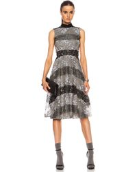 Rodarte Striped Lace Mini Dress - Lyst