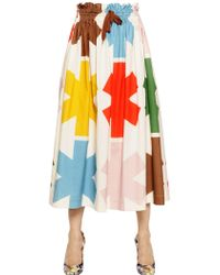 Vivienne Westwood Anglomania Printed Cotton Calico Skirt - Lyst