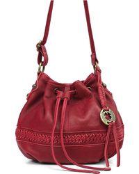 Lucky Brand - Gemma Leather Drawstring Crossbody Bag - Lyst