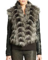Guess Faux Fur Convertible Jacket - Lyst