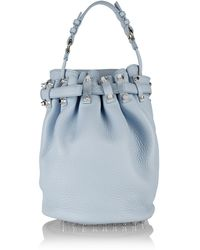 Alexander Wang Diego Textured-leather Shoulder Bag - Lyst