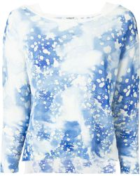 Cacharel Printed Sweater blue - Lyst