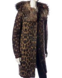 Lanvin Animal Coat - Lyst