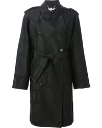 Stella McCartney Belted Polka Dot Trench Coat - Lyst